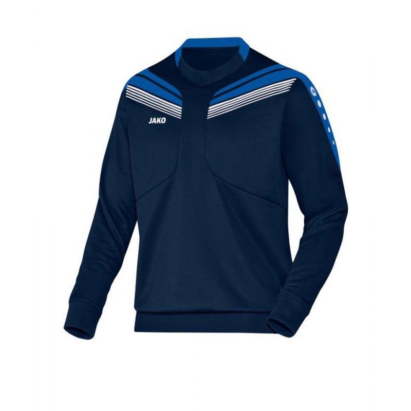 Jako Sweatshirt Pro Sweat Kinder Blau Weiss F49 - blau