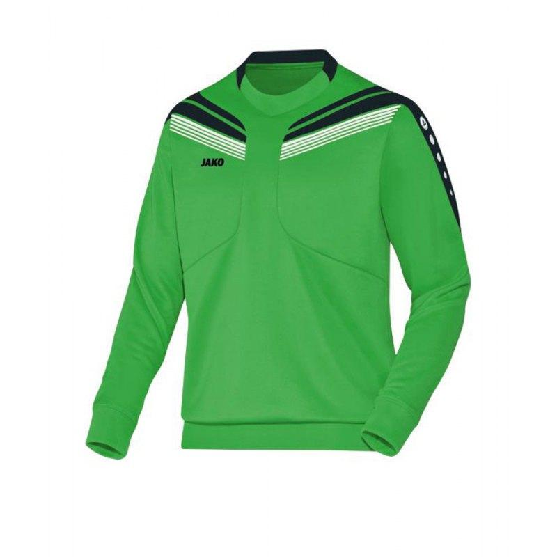 Jako Sweatshirt Pro Sweat Kinder Grün Schwarz F22 - gruen