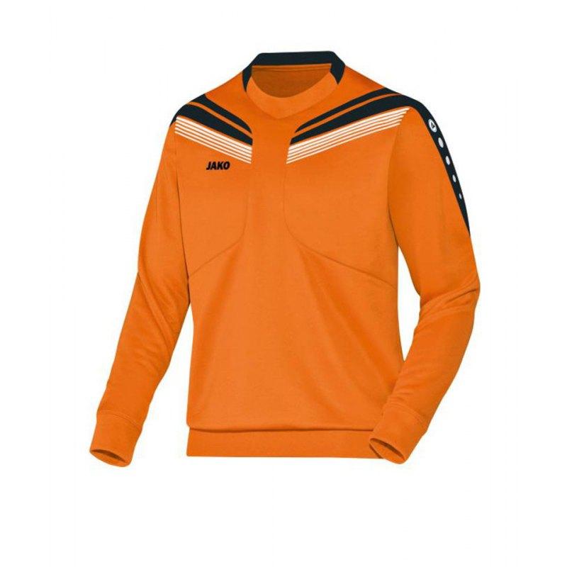 Jako Sweatshirt Pro Sweat Kinder Orange Schwarz F19 - orange