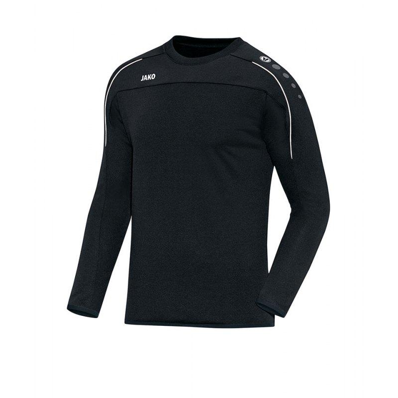Jako Sweatshirt Classico Schwarz Weiss F08 - schwarz
