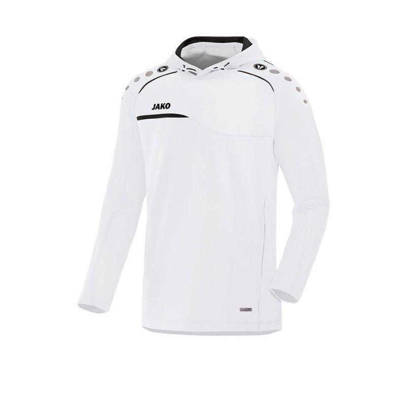 Jako Prestige Hoody Kapuzensweatshirt Weiss F00 - weiss