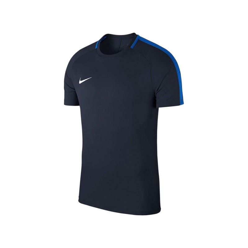 Nike Academy 18 Football Top T-Shirt Blau F451 - blau
