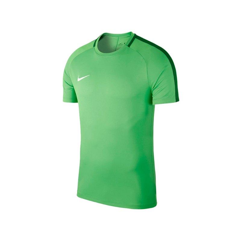 Nike Academy 18 Football Top T-Shirt Grün F361 - gruen