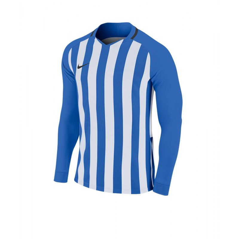 Nike Striped Division III Trikot langarm Kids F464 - blau