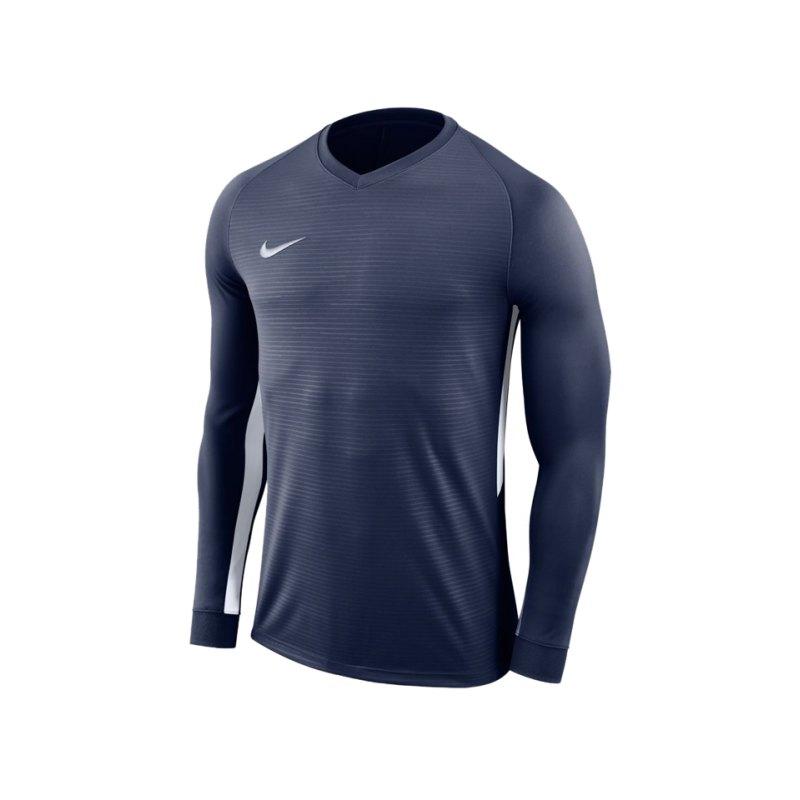 Nike Tiempo Premier Trikot Langarm F411 - blau