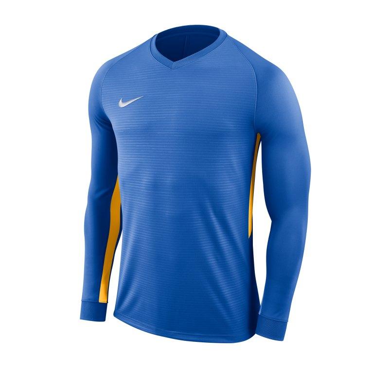 Nike Tiempo Premier Trikot Langarm F464 - blau