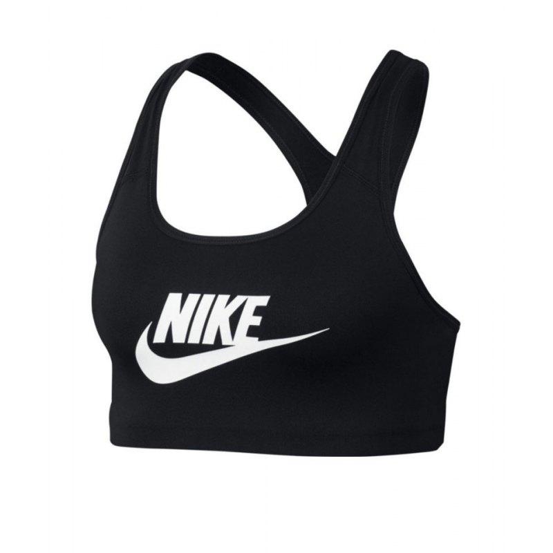 Nike Futura Swoosh Bra Sport-BH Damen Schwarz F010 - schwarz