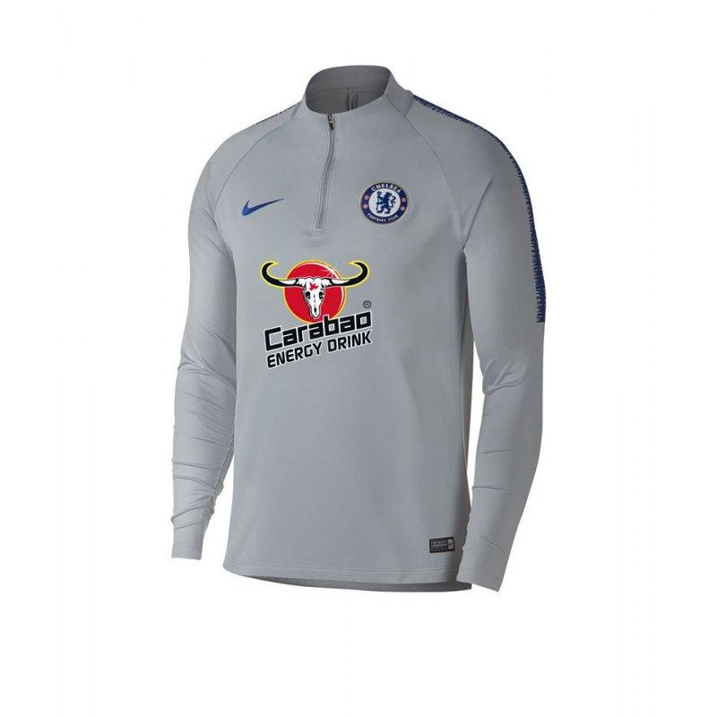 Nike FC Chelsea London Squad Drill Top Grau F015 - grau