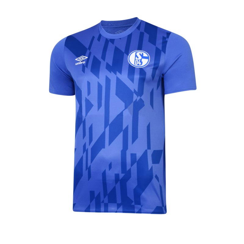 Umbro FC Schalke 04 Jersey Warm Up T-Shirt F71N - blau