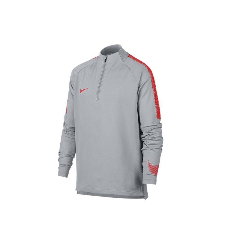 Nike Dry Squad Drill Top langarm Kids Grau F060 - grau