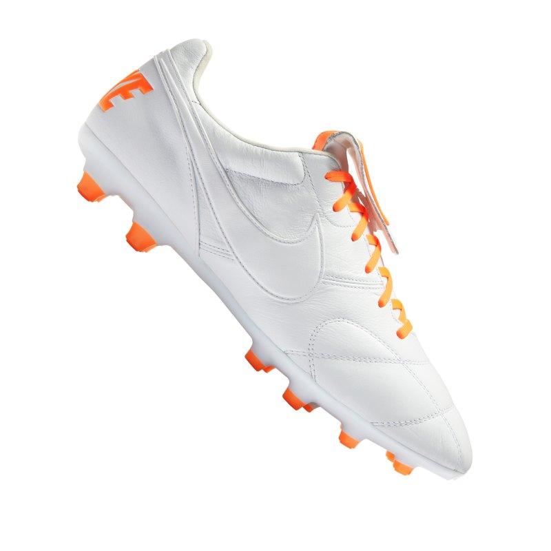 Nike The Premier II FG Weiss Orange F181 - weiss