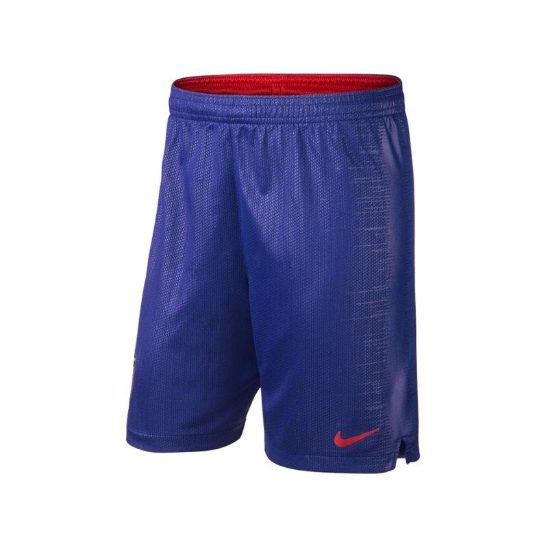 Nike Atletico Madrid Short Home 18/19 Kids F455 - blau