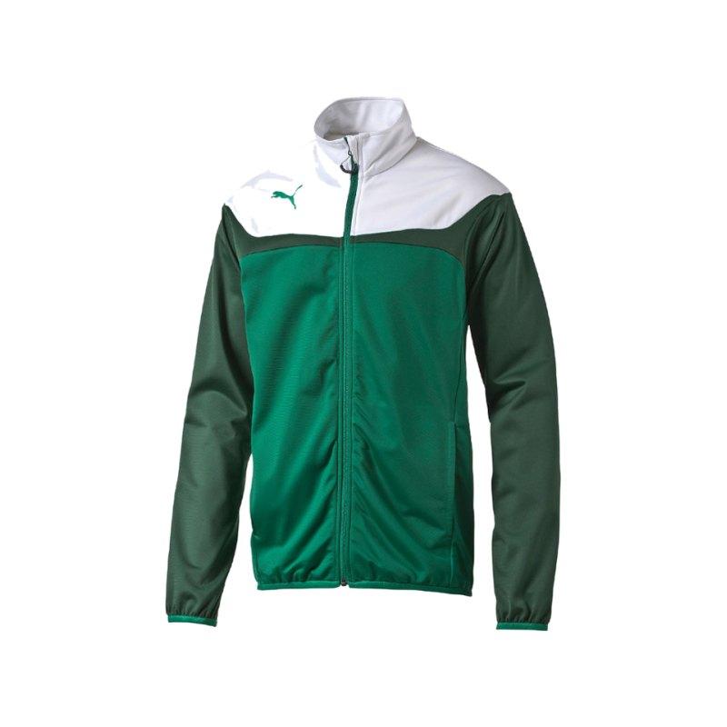 PUMA Polyesterjacke Esito 3 Tricot Jacket Kinder F05 - gruen