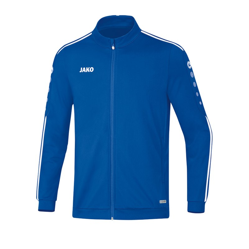 Jako Striker 2.0 Polyesterjacke Blau Weiss F04 - Blau