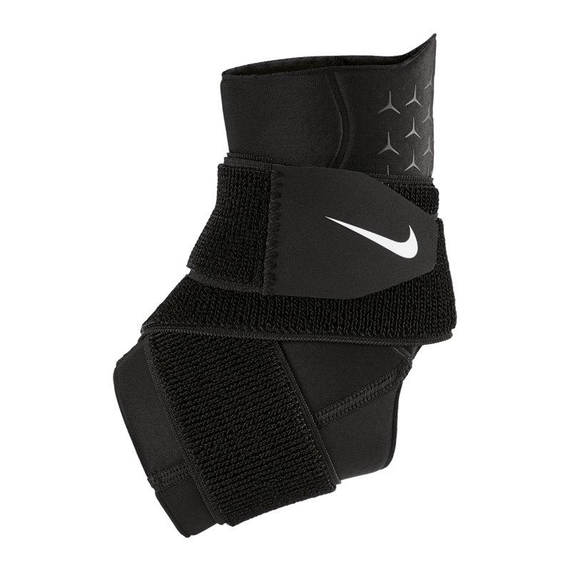 Nike Pro Ankle Sleeve with Strap Schwarz F010 - schwarz