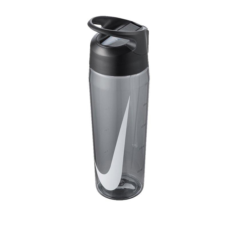 Nike TR Hypercharge Straw Bottle 709ml Grau F025 - grau