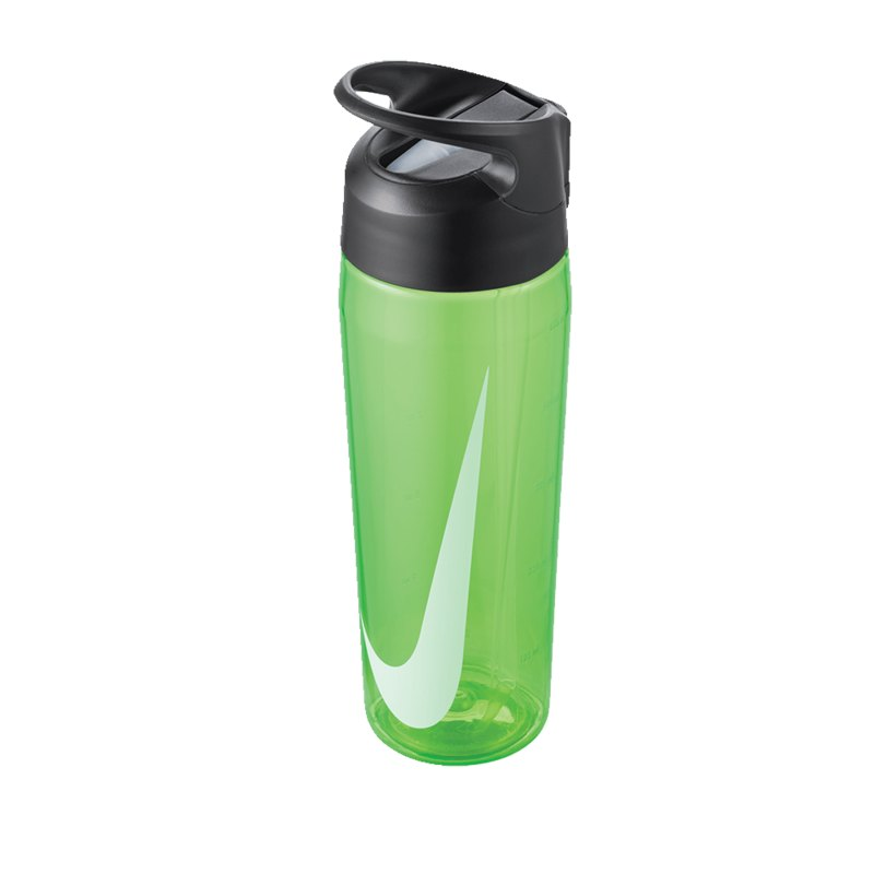 Nike TR Hypercharge Straw Bottle 709ml Grün F344 - gruen