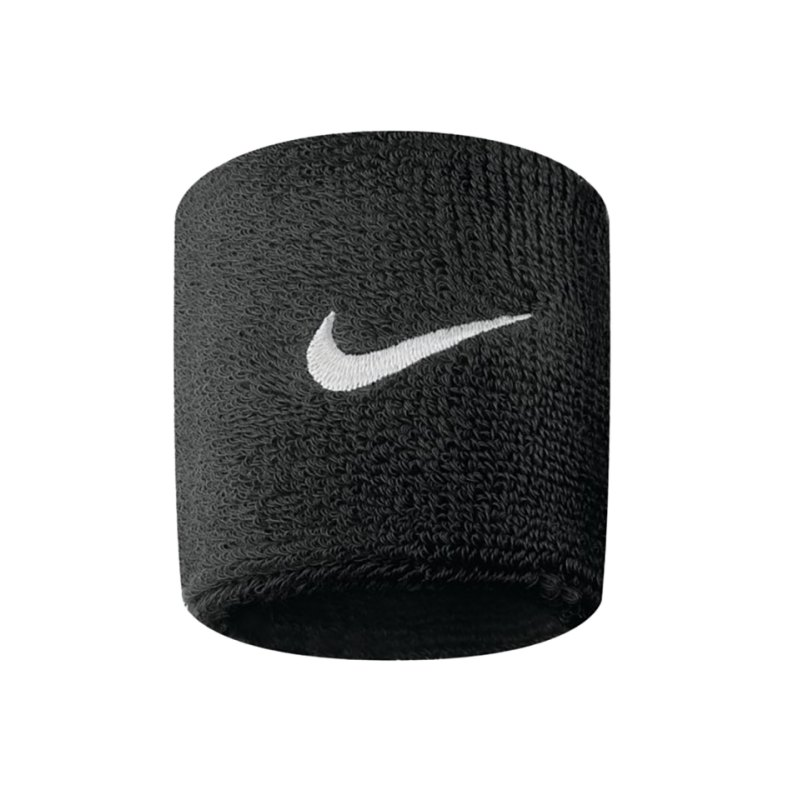 Nike Swoosh Wristbands Schwarz Weiss F010 - schwarz