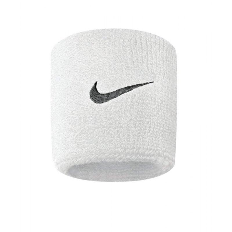 Nike Swoosh Wristbands Weiss Schwarz F101 - weiss