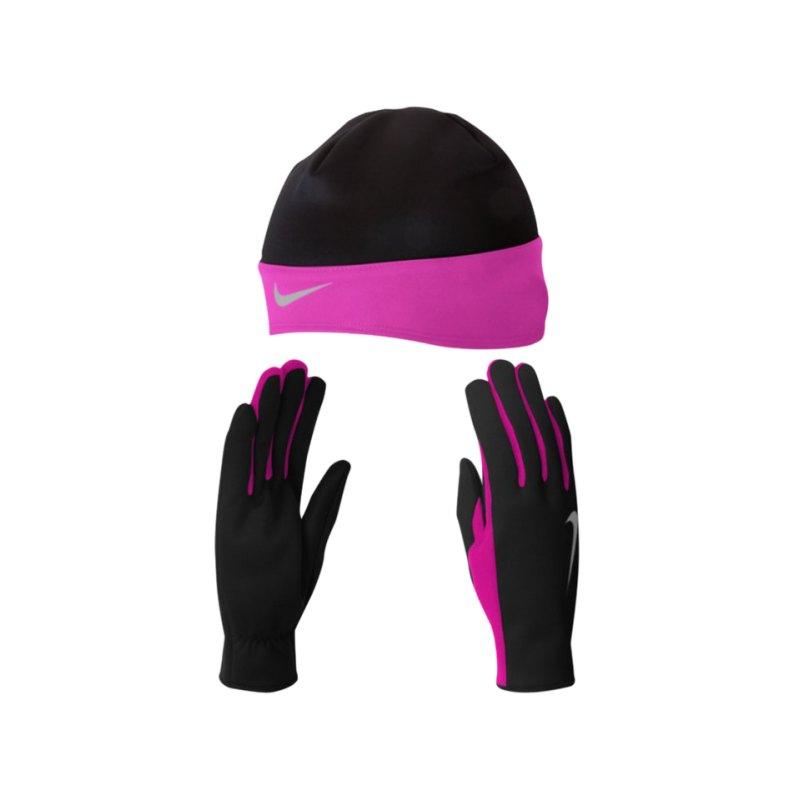 Nike Mütze- und Handschuhset Running Damen F067 - schwarz