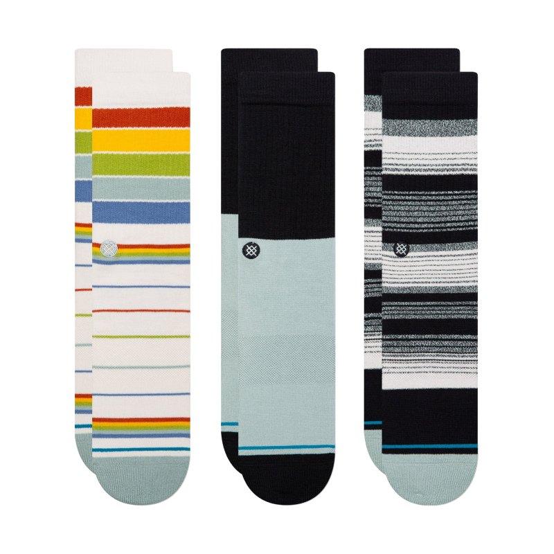 Stance Badewater Crew 3er Pack Socken Multi - mehrfarbig