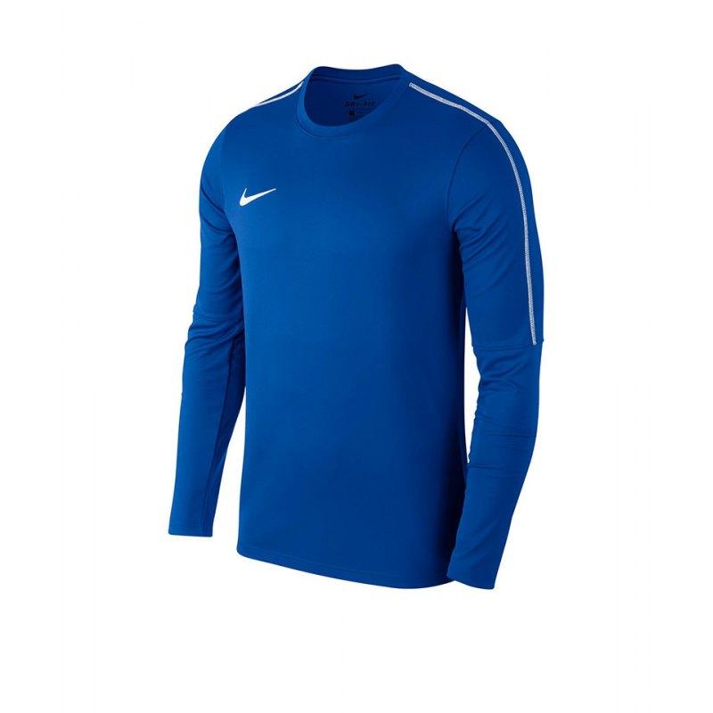 Nike Park 18 Crew Top Sweatshirt Blau F463 - blau