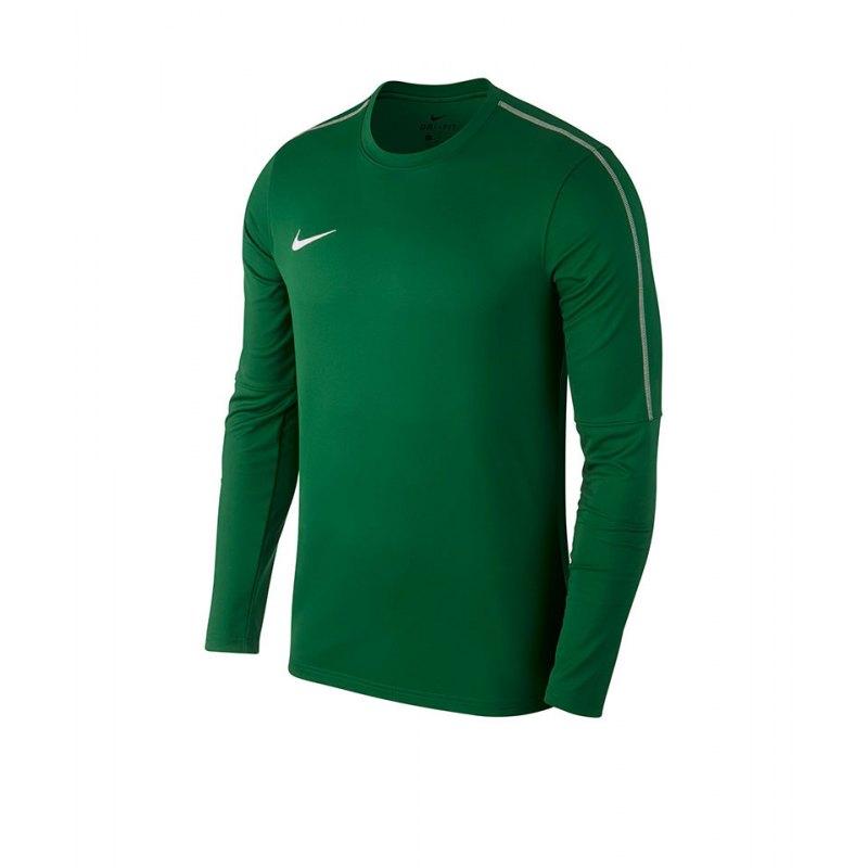 Nike Park 18 Crew Top Sweatshirt Grün F302 - gruen