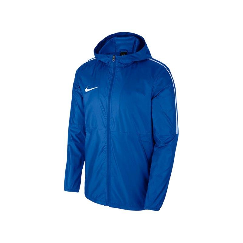 Nike Park 18 Rain Jacket Regenjacke Blau F463 - blau
