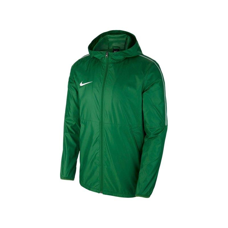 Nike Park 18 Rain Jacket Regenjacke Kids F302 - gruen