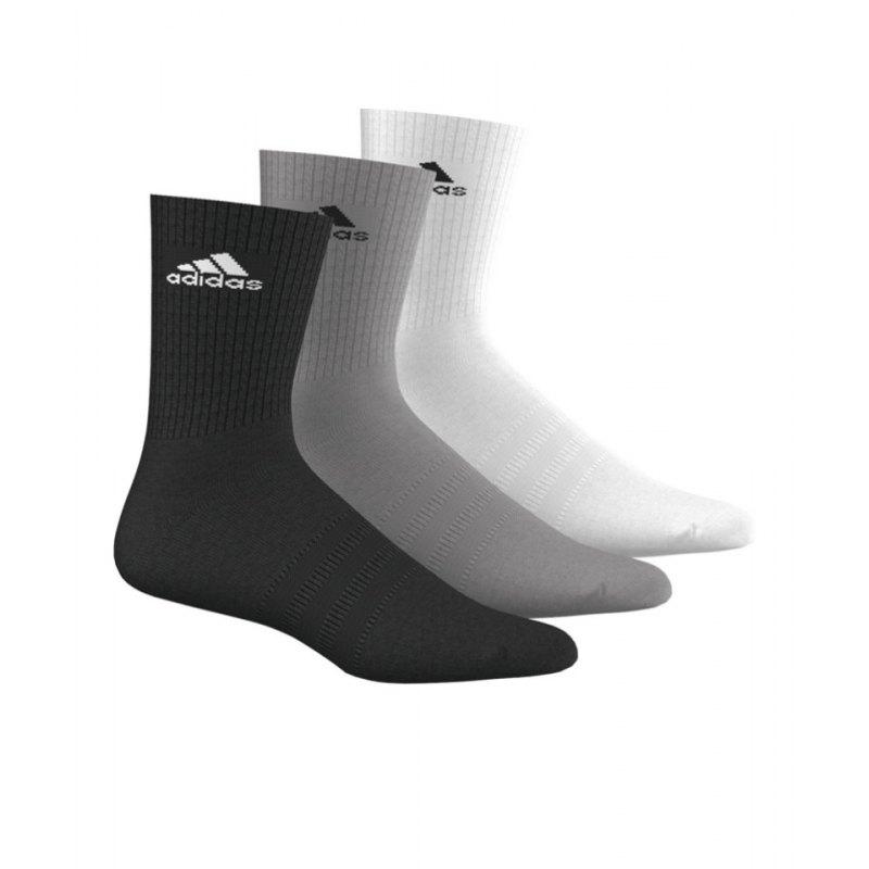 adidas Socken 3S Performance Crew 3er Pack - schwarz