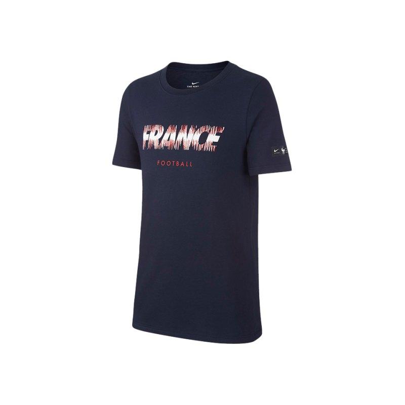 Nike Frankreich Pride Tee T-Shirt Kids Blau F451 - blau