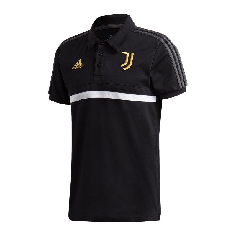 adidas Juventus Turin 3S Poloshirt Schwarz - schwarz