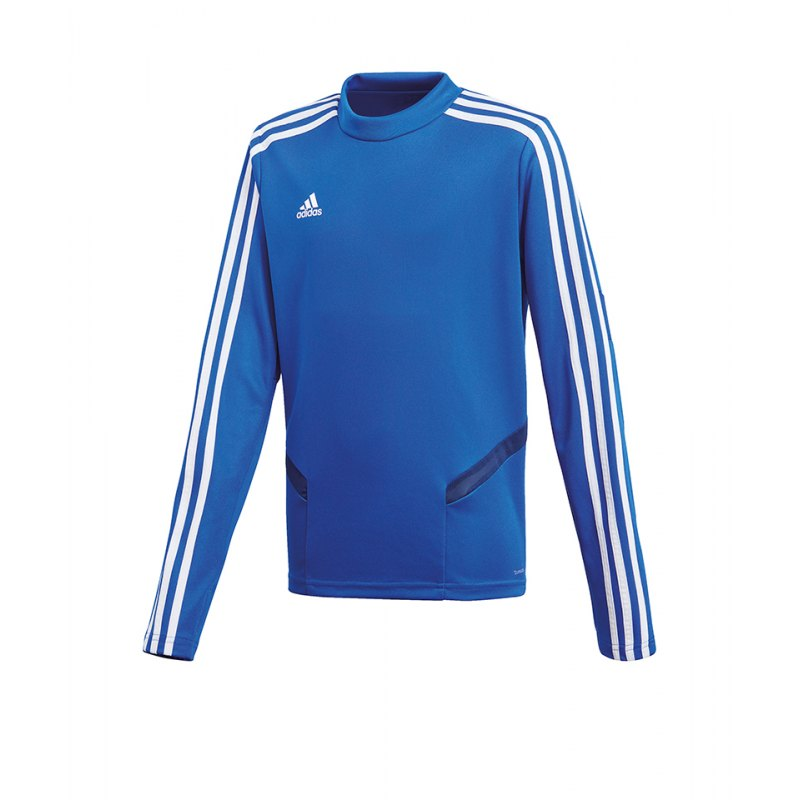 adidas Tiro 19 Trainingstop Blau Weiss - blau