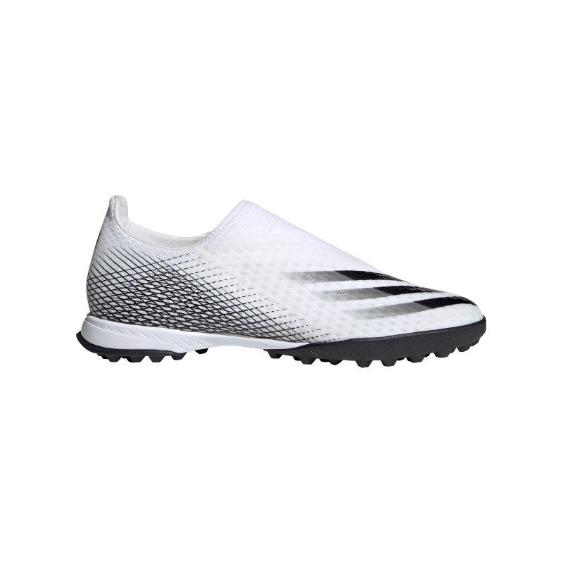 adidas X GHOSTED.3 LL TF Inflight Weiss Schwarz - weiss