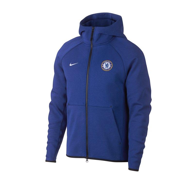 Nike FC Chelsea London Tech Fleece Jacke F495 - blau