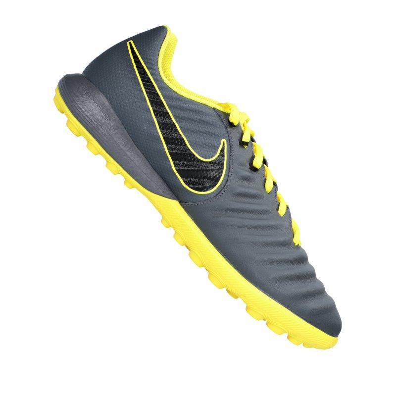 Nike Tiempo LegendX VII Pro TF Grau Gelb F070 - grau