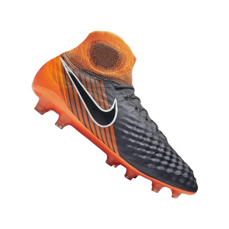 Nike Magista Obra II Elite DF FG Grau Orange F080 - grau