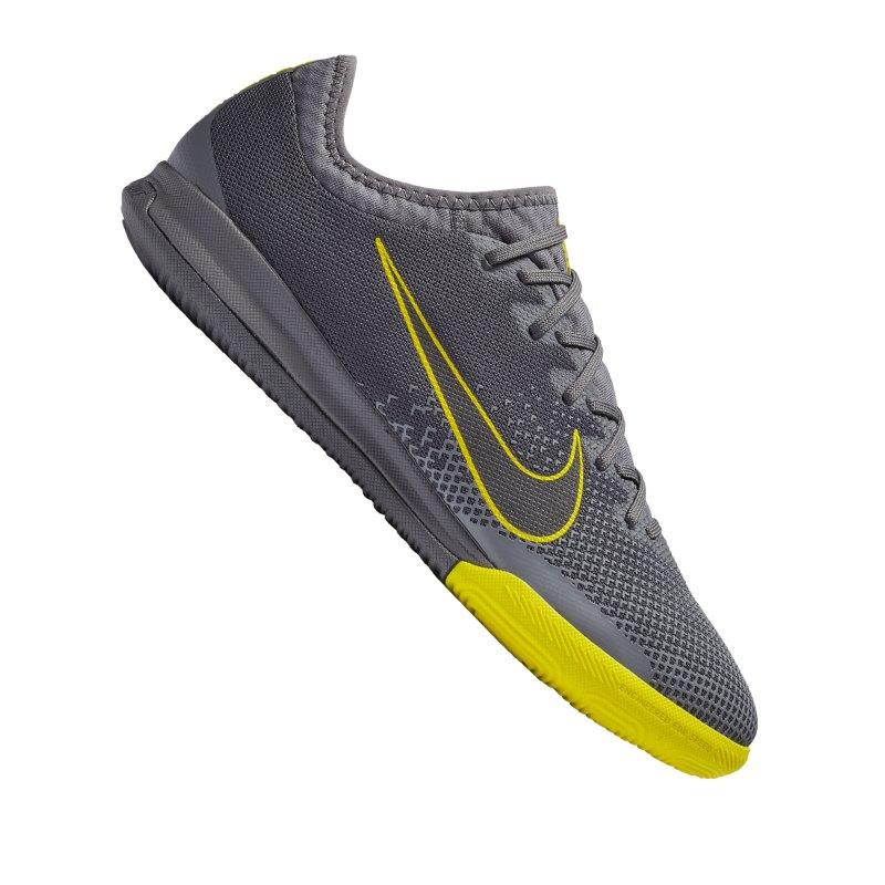Nike Mercurial VaporX XII Pro IC Grau Gelb F070 - grau