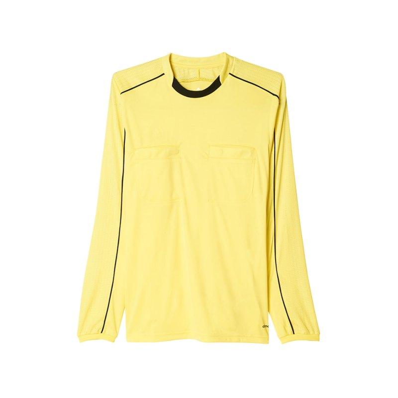 adidas Trikot langarm Referee 16 Gelb Schwarz - gelb