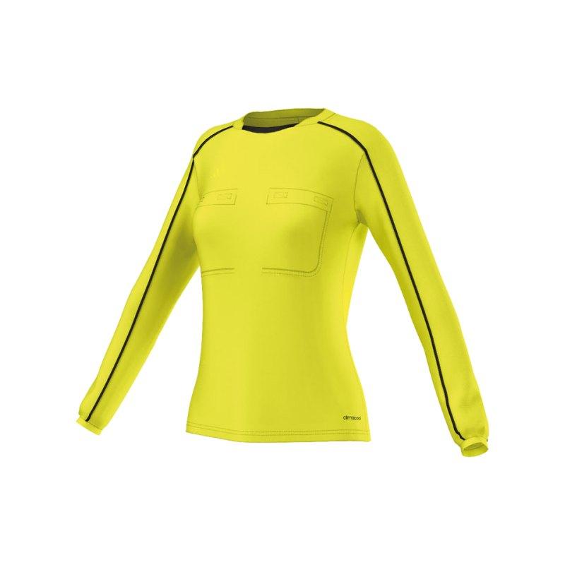 adidas Trikot langarm Referee 16 Damen Gelb - gelb