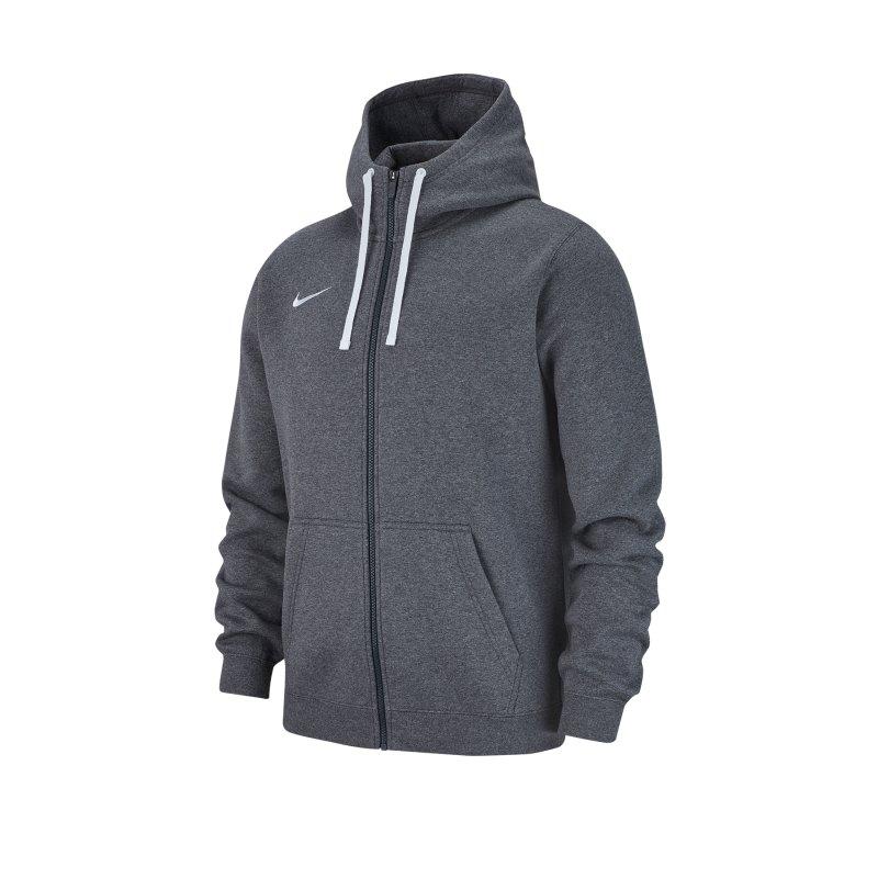 Nike Club 19 Fleece Kapuzenjacke Grau F071 - grau