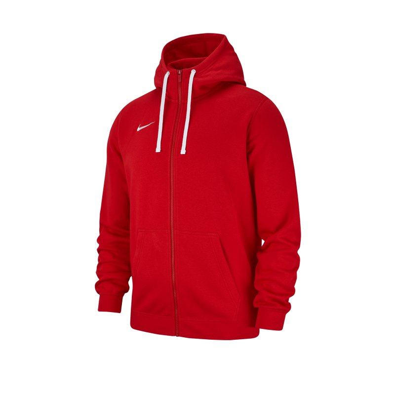 Nike Club 19 Fleece Kapuzenjacke Rot F657 - rot