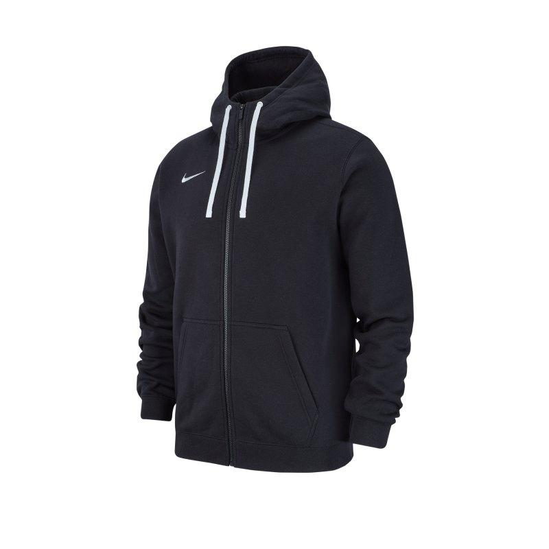 Nike Club 19 Fleece Kapuzenjacke Schwarz F010 - schwarz