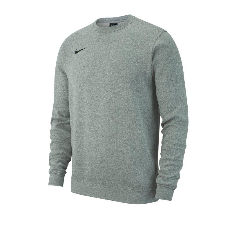 Nike Team Club 19 Fleece Sweatshirt Grau F063 - grau