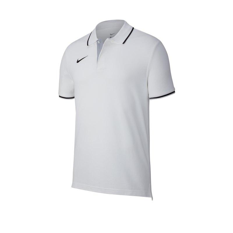 Nike Club 19 Poloshirt Weiss F100 - weiss