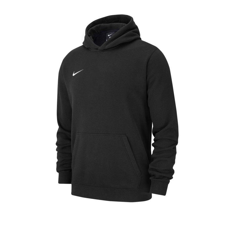 Nike Club 19 Fleece Hoody Kids Schwarz F010 - schwarz