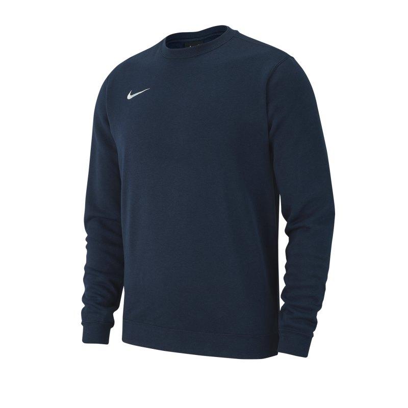 Nike Team Club 19 Fleece Sweatshirt Kids Blau F451 - blau