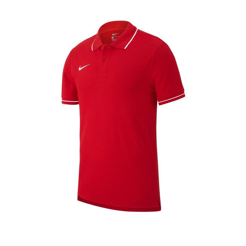 Nike Club 19 Poloshirt Kids Rot F657 - rot
