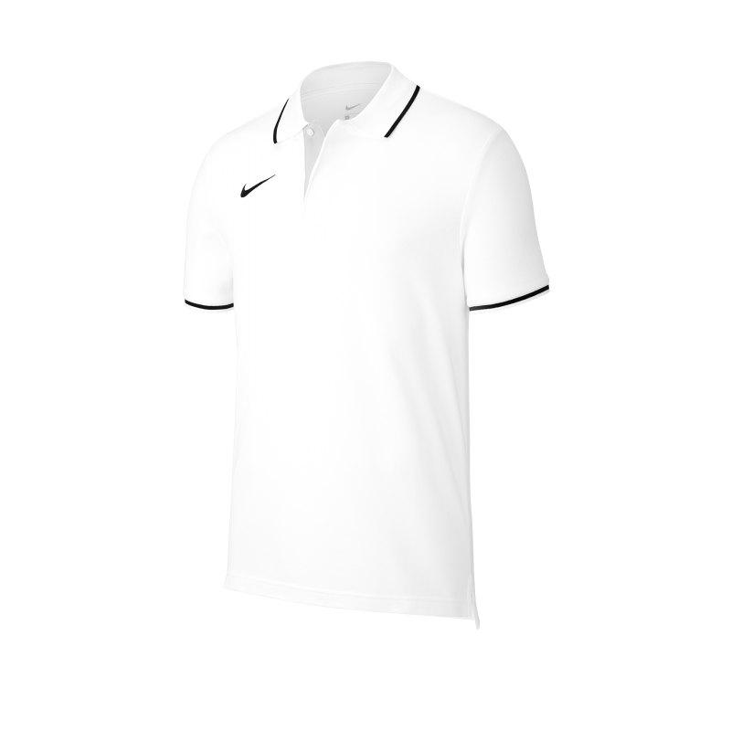 Nike Club 19 Poloshirt Kids Weiss Schwarz F100 - weiss