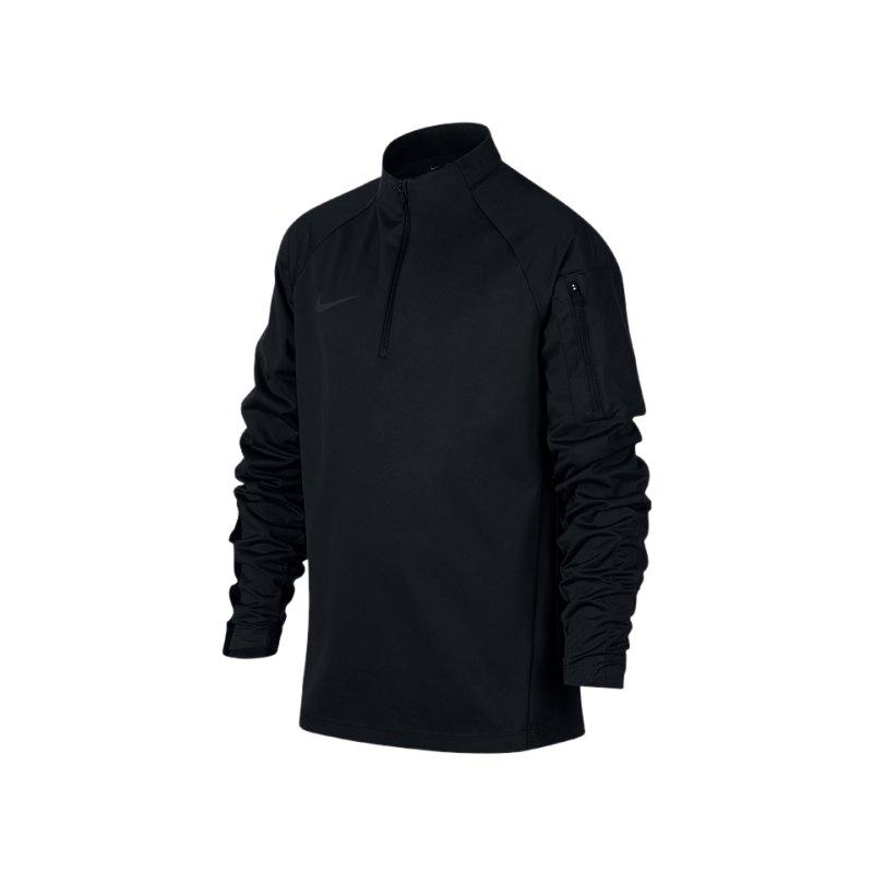 Nike Shield Squad Drill Zip Sweatshirt Kids F010 - schwarz